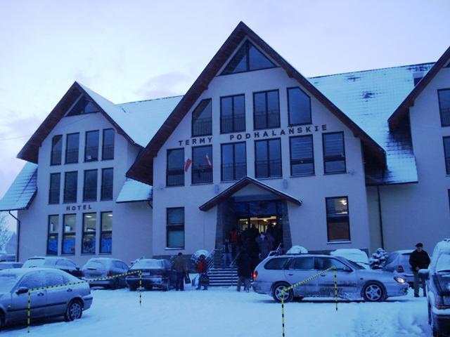 Budynek w którym znajdują sie Termy Podhalańskie