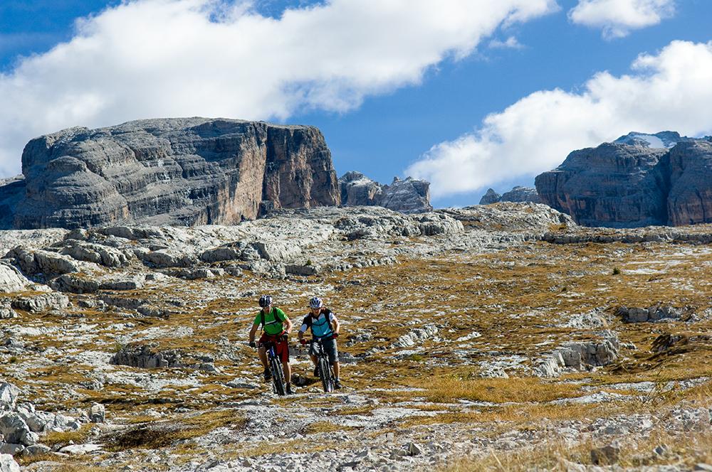 Rowery w Dolomitach - trasy w pobliżu Madonna di Campiglio