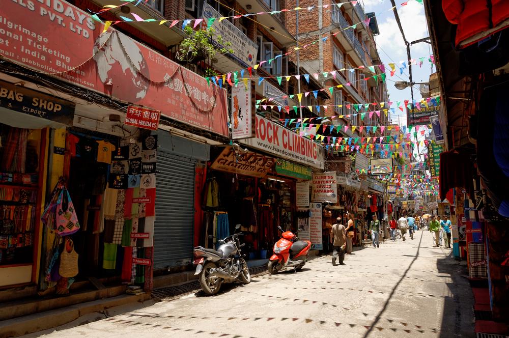 Thamel – turystyczna dzielnica w Katmandu